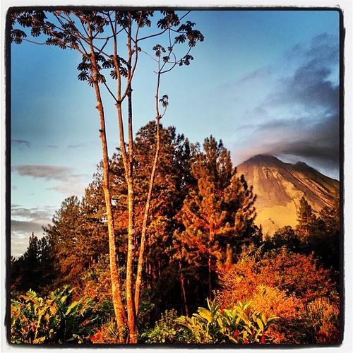 travel sunset sky nature colors landscape volcano costarica arenal skylovers uploaded:by=flickstagram instagram:photo=63408402713759698015939678