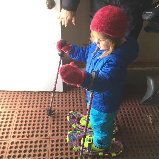 Ready for snowshoeing! #winterbreak2014