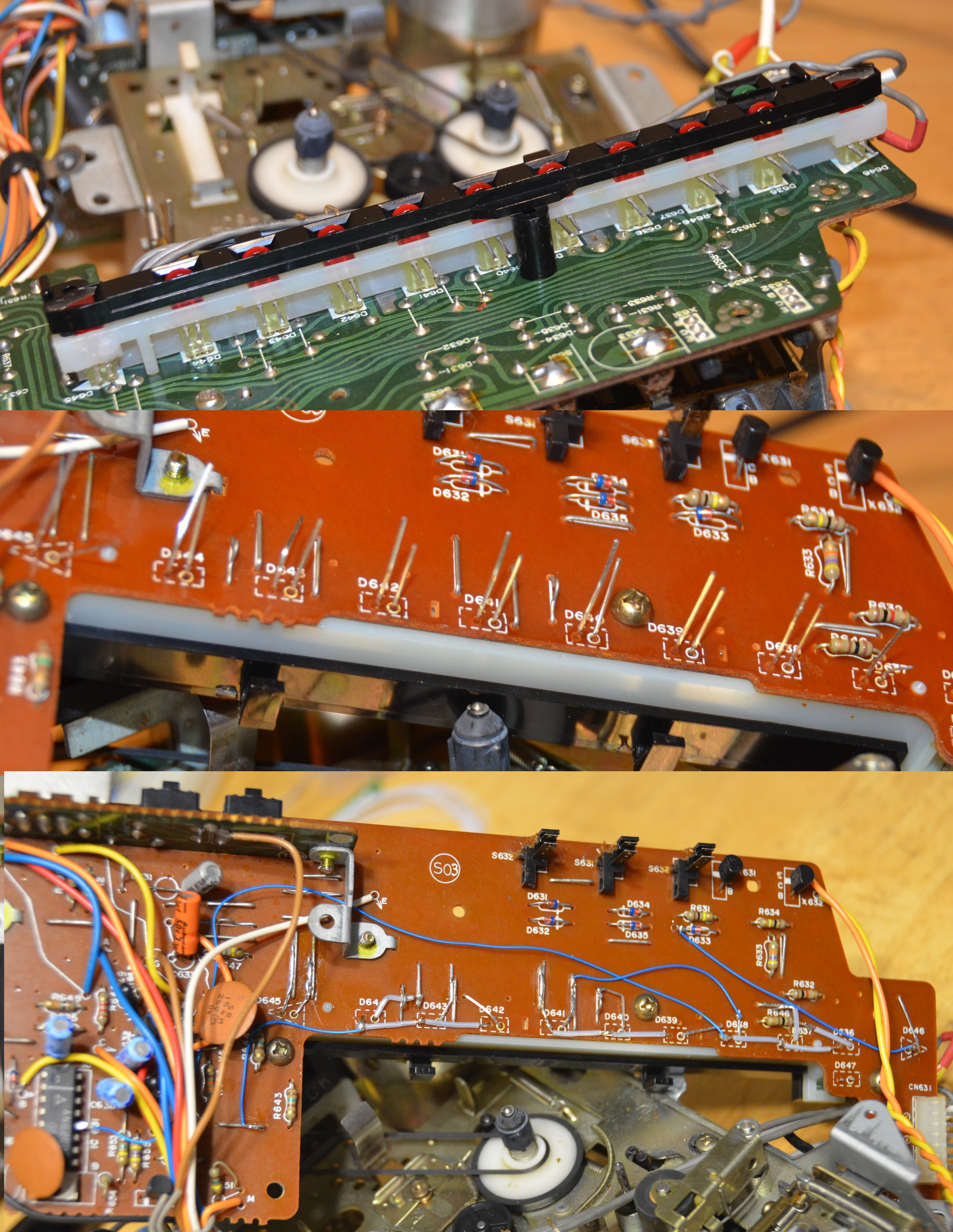 M70 Led Meter Mod Restorations Customizations Boomboxery Lm3915 Vu Not Working Properly Electrical Engineering An Error Occurred