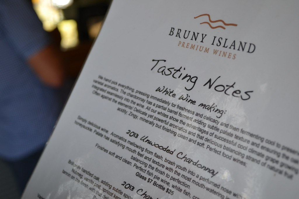 Wine tasting at Bruny Island