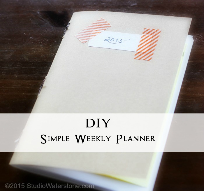 DIY Simple Weekly Planner