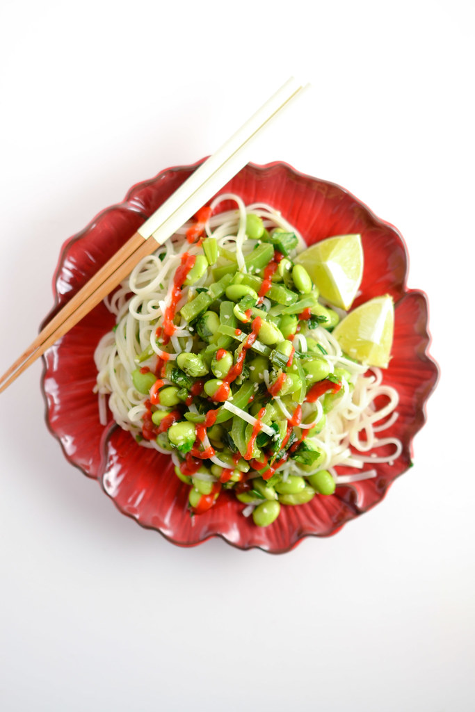Green Vegetable Rice Noodle Bowl | Things I Made Today