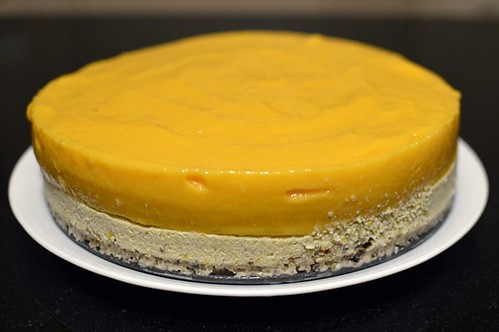 Mango & orange paleo cheesecake