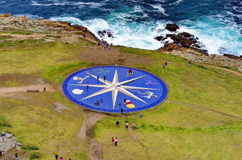 A Coruña La Corogne Galice Espagne 302 - la Rose des Vents vue depuis le sommet de la Torre de Hércules Tour d'Hercule