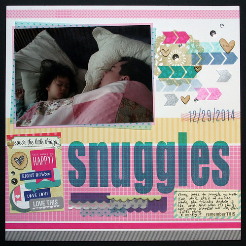 Snuggles Scrapbook Layout | shirley shirley bo birley Blog