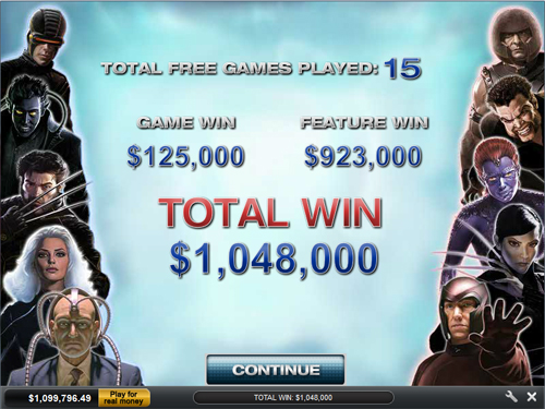 free X-Men 50 Line gamble feature win