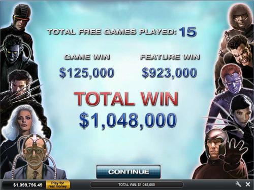 free X-Men 50 Line gamble feature win