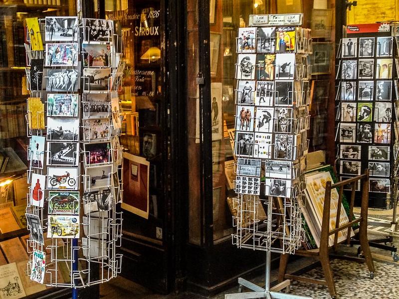 Vintage Postcard Racks in Galerie Vivienne