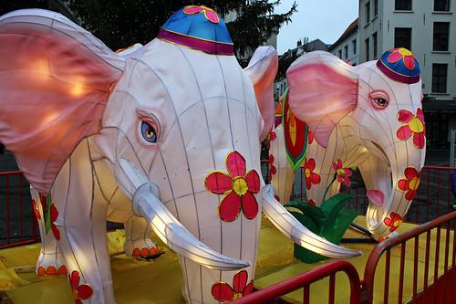 random elephants