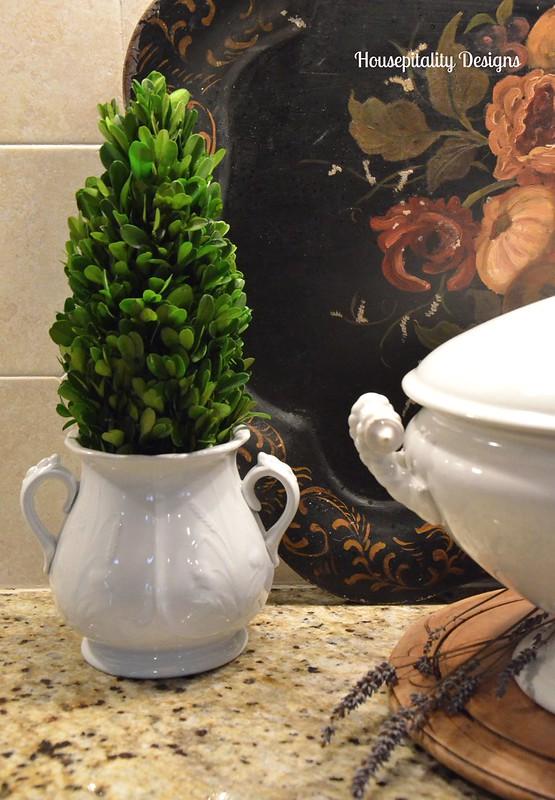 Ironstone Sugar Bowl Topiary-Housepitality Designs