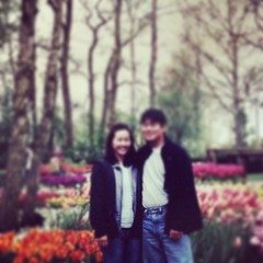 happy 15th anniversary, love you! #tbt honeymoon to Europe @ #keukenhof #netherlands