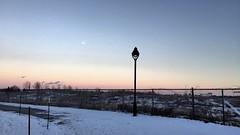 Moonlight sunset