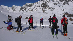 Nasza grupa na przełęczy Col des Roux 2804m.