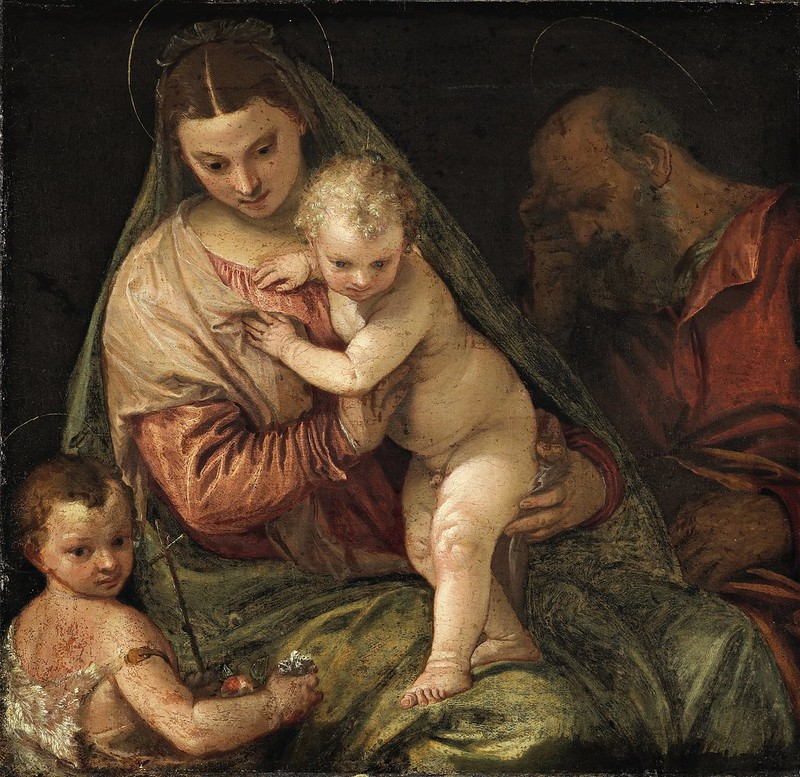 Paolo Veronese - The Holy Family with the Infant St. John the Baptist (c.1560)