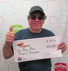 Paul Rios - $30,000 Hot Lotto Sizzler