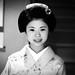 Portrait of a 16 years old maiko called chikasaya, Kansai region, Kyoto, Japan by Eric Lafforgue