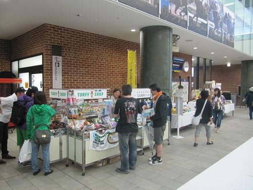 函館競馬場の臨時ターフィーショップ