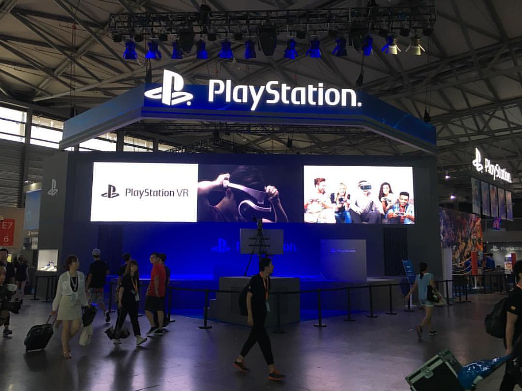 7/31最後一日開場前的舞台巡視 #PlayStation #playstationvr #psvr #sony #chinajoy #shanghai