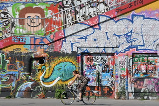 Urban Female Cyclist, Wein, Austria.