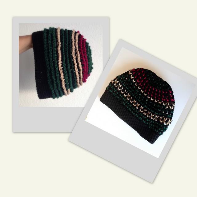 Gorro stripes  crochet hat