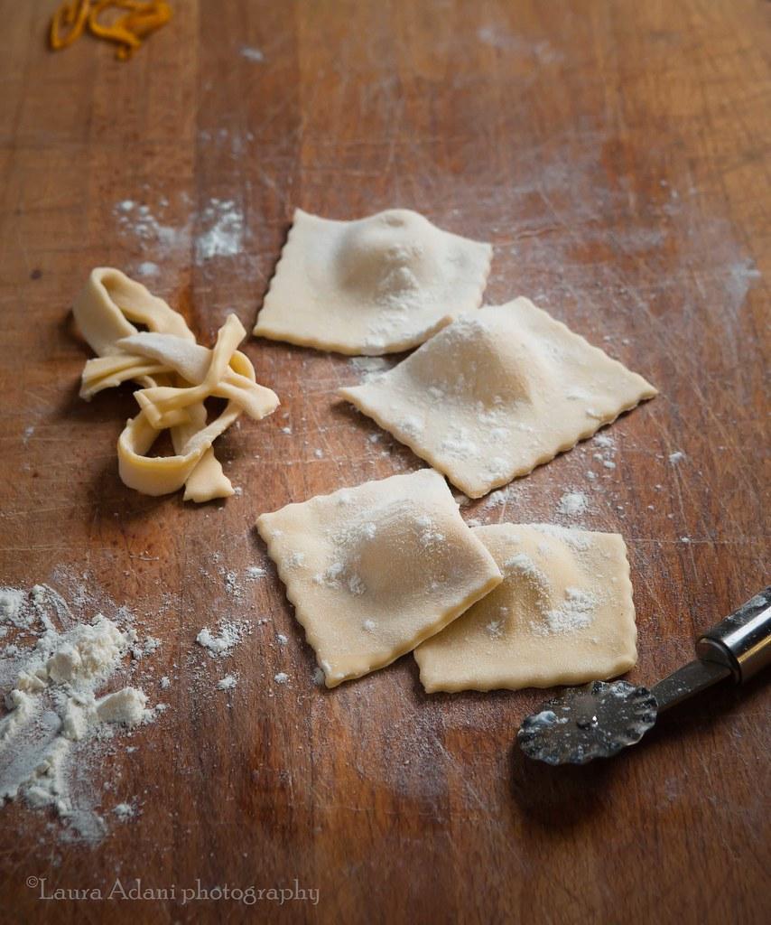 and make ravioli using the  straight pastry wheel