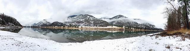 Clark Fork River #Montana #Winter #Panorama