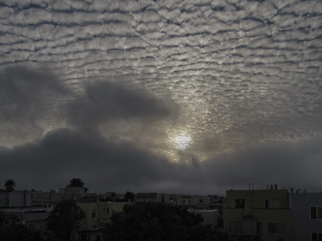 high spotty clouds, October 15, 2014