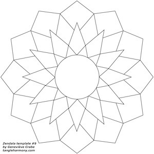 Zendala template number 9