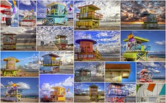 The unique, colorful and psychedelic lifeguard stands of South Beach
