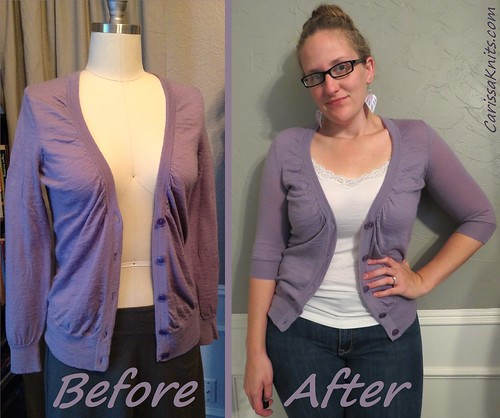 The Darned Sweater - Before & After