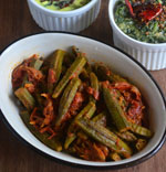 stuffed bhindi curry-stuffed lady's finger sabji