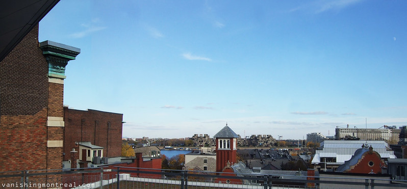 Old Montreal / Habitat from rooftop panoramic 1