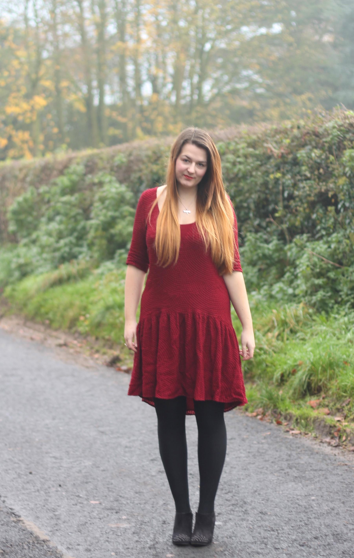 Drop waist dress outfit