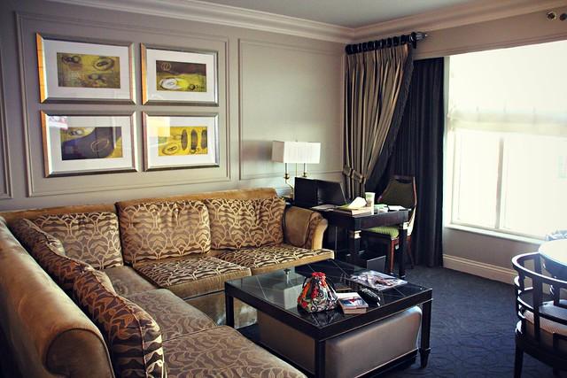 The Venetian hotel room