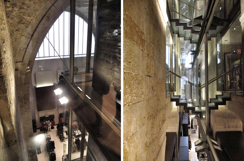 zara salamanca_arquitecta_sonia vazquez_acero_vidrio_rehabilitación_convento