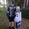 Batman and Olaf are ready for tonight! #halloween
