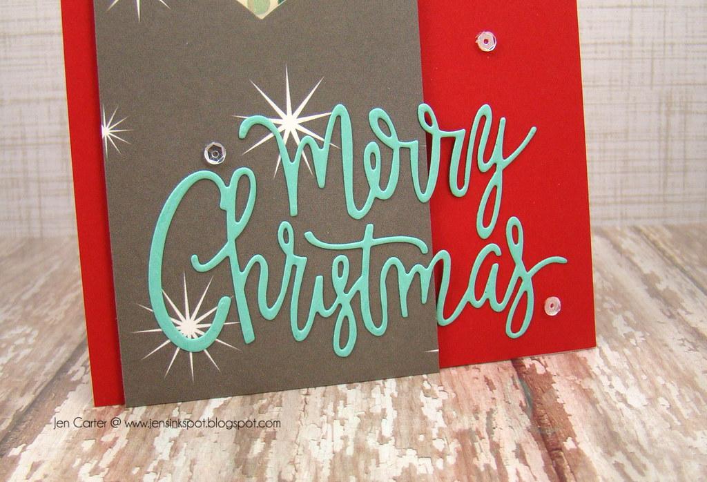 Merry Christmas Bauble Closeup bottom