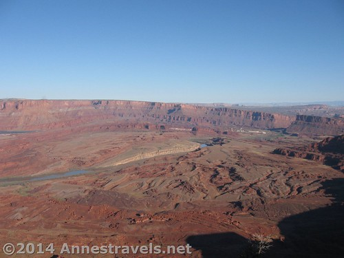 Part of the view from Anticline Overlook, Canyon Rims Recreation Area, Utah