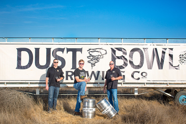 L to R-Brett Honore, owner, Don Oliver, brewmaster, Brett Tate, owner