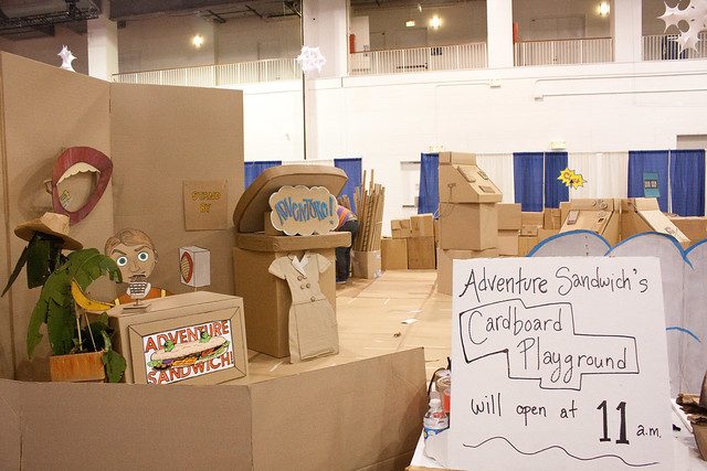 Cardboard playground at Chicago Toy & Game Fair