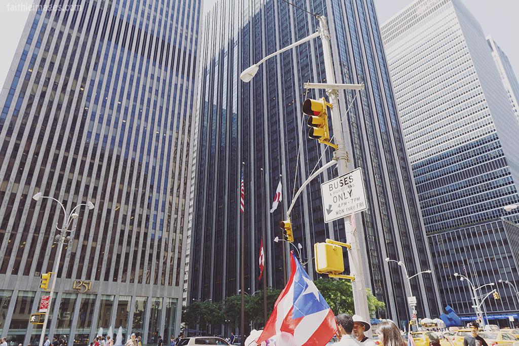 Puerto Rico flag in NY
