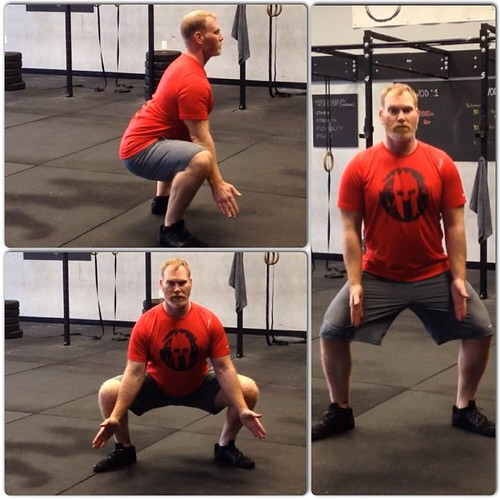 Day 13: Sumo Squat #Spartan30 #squat Challenge!  This variation is great for working on your inner thigh and hip flexor mobility!  Here are the basics: 1. Start a little wider that shoulder width 2. Turn toes out to about 45 degrees 3. Squat straight down