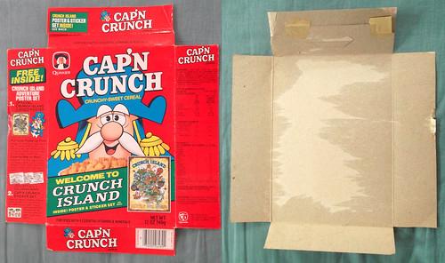 1983 Quaker Cap'n Crunch Crunch Island Cereal Box