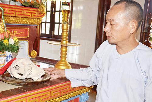Bí mật sau chiếc sọ cọp cái ba chân ở chùa Diêu Quang