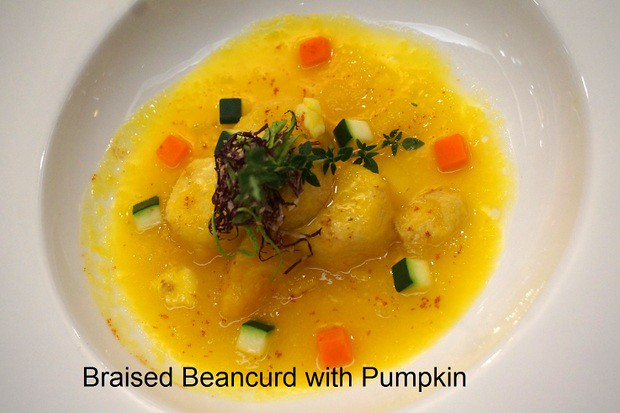 Braised Beancurd with Pumpkin