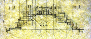 early site section thru whole hill sketch