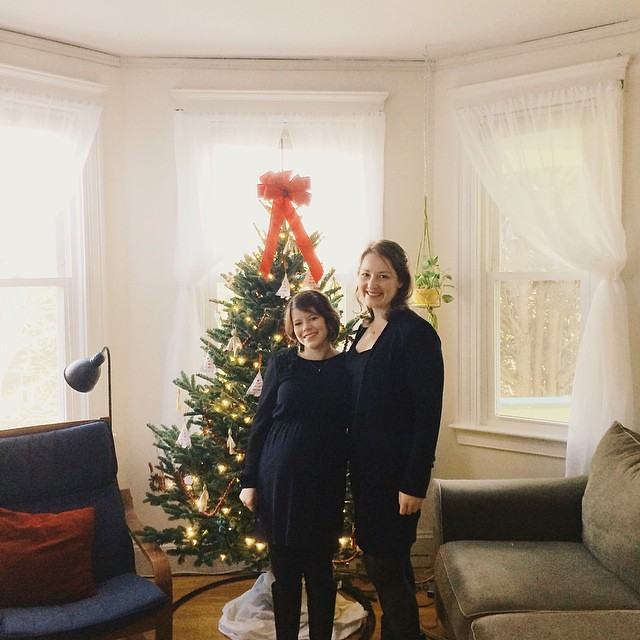 Pre-Messiah posing next to the Christmas tree. #merrychristmas #messiah #friendship