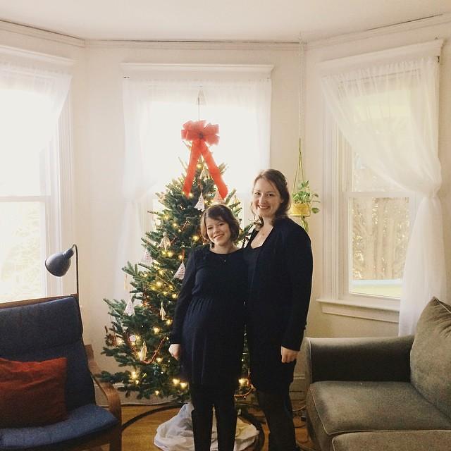Pre-Messiah posing next to the Christmas tree. #merrychristmas #messiah #friendship