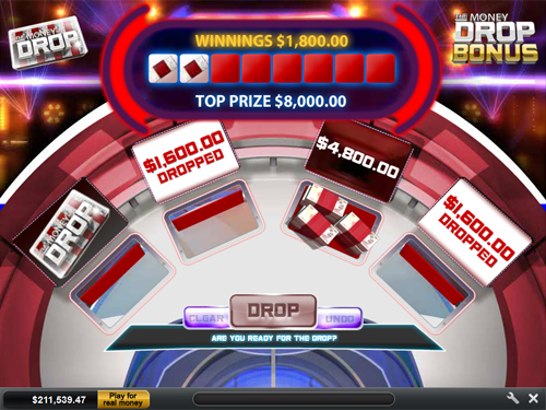 free The Money Drop bonus feature prize