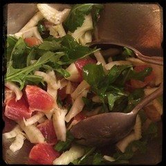 #CucinaDelloZio favorite #salad - fresh #fennel #BloodOranges & #Arugula